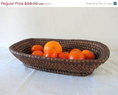 ON SALE Antique French Coiled Rye Basket