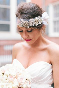 this bride wore the #%$& out of her head wrap. feeling inspired. http://www.weddingchicks.com/2013/12/19/glamorous-philadelphia-wedding/