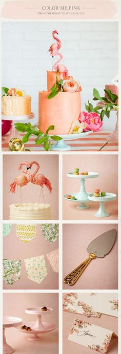 There is something I like about this, maybe the flamingos or the pink. Flamingo Party, Printable Bridal Shower Games, Tropical Party, Wedding Cake Inspiration, Party Treats, Party Items, Wedding Trends, Camilla, Eat Cake