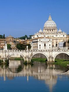 Tiber River Vatican City Rome Italy - Saw this view several times.