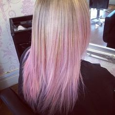 Have your blonde fade perfectly to a rosy pink. | 35 Low-Key Ways To Add Color To Your Hair