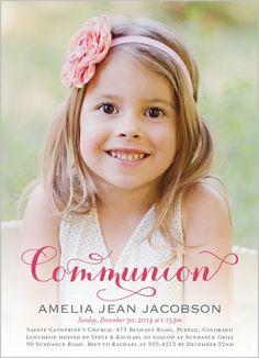 love the photo invite Delightful Day Girl Communion Invitation