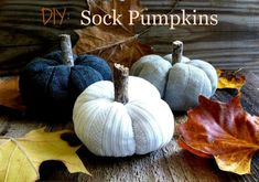 diy sock pumpkins, crafts, gardening, halloween decorations, home decor, seasonal holiday decor
