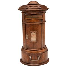 Rare Miniature Oak Post Box   From a unique collection of antique and modern more antique and vintage finds at http://www.1stdibs.com/furniture/more-furniture-collectibles/more-antique-vintage-finds/