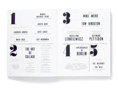 Elephant magazine by Studio8 Contents page