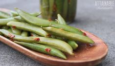 Spicy Fermented Sugar Snap Peas - Attainable Sustainable