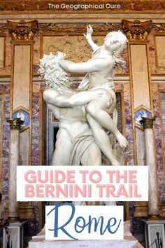 """Planning a trip to Rome? This is the ultimate guide to finding Bernini's art and sculptures in Rome Italy. Gian Lorenzo Bernini was one of the greatest artists of the Baroque period. Dubbed the """"animator of marble,"""" Bernini left his artistic stamp everywhere in Rome, helping define the city. Bernini's art is found in Rome's museums and churches, which are must see sites and hidden gems in Rome. If you love art, read on the best artsy things to do and see in Rome, for your Rome bucket list. Rome Museums, Bernini Sculpture, Museum Guide, Day Trips From Rome, Gian Lorenzo Bernini, Rome Travel, Ancient Ruins, Rome Italy, Culture Travel"""