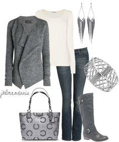 """""""Gray & White"""" by jklmnodavis on Polyvore"""
