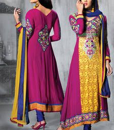 Buy Ravishing Pink and Yellow Anarkali Salwar Suit wedding-salwar-kameez online