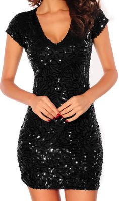 Sequin black dress