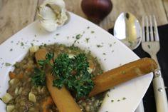 Linseneintopf mit zwei Würstchen  #FoodPlace #food #Soupamazing #hamburg Foodplace | Easy & Enjoy
