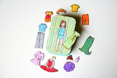 his and hers magnetic paper dolls