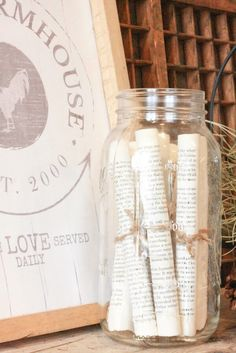 Message in a Bottle Table Décor