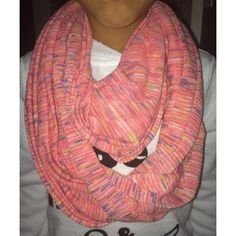 Pink Multicolored Scarf / Head Scarf barely used scarf, still in great condition. light enough to wear during summer nights as well. Cauldron also be used as a head scarf which is beautiful 😍 please help me, I have no money for rent right now. Even if you just repost this that will be great ❤️ God Bless Accessories Scarves & Wraps