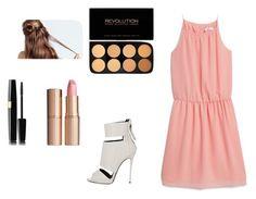 """Pink"" by alexa-fitz ❤ liked on Polyvore featuring MANGO, Giuseppe Zanotti and Charlotte Tilbury"