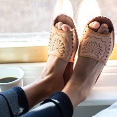 Have you seen our Open toe leather slippers? They will be back in stock on Friday! onaie.com #handmadewithlove #handmadeslippers #handcrafted #handmadegifts #makersgonnamake #madebyhand #makersgunnamake #handmadelife #buydifferently #interiordesign #homeinspo #favehandmade #instadaily #naturalslippers #instahome #womenhomeshoes #bestslippersever #womenslippers #meditation #love #health #wellness #healthy #mindfulness #pilates #inspiration #onaie #homedecor #interiors #interiordecor Slip On Mules, Leather Slippers, Womens Slippers, Interior Decorating, Handmade, Leather Flip Flops, Hand Made, Decor, Interior Design