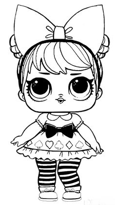 Coloring Pages For Girls Kids Doll Drawing Pusheen