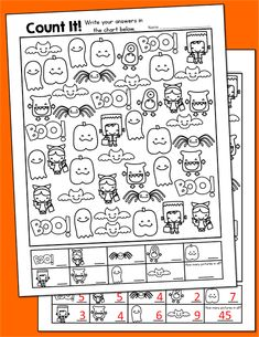 Halloween Freebie Activities, Count It and More! - Printables 4 Mom - - Looking for fun, Halloween activities for your Pre-K through graders? Check out the Find Hidden Sight Words and Count it Halloween Freebie Activities. Fun Halloween Activities, Theme Halloween, Holiday Activities, Classroom Activities, Halloween Printable, Halloween Worksheets, Halloween Crafts For Kindergarten, Halloween Color By Number, Classroom Halloween Party