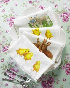 Gestaltungstipps - Servietten falten zu Ostern