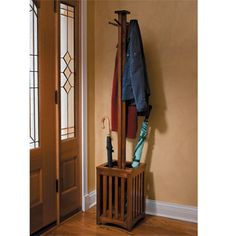 Free Standing Coat Closet | ... to hang coats hats scarves and umbrellas this standing coat rack has