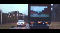 "Samsung ""The Safety Truck""。透過傳送在聯結車的前鏡頭畫面,到連結車尾的螢幕上,讓後車可以安全的在雙線道超車。"