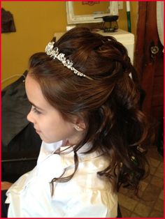 First Communion Hairstyles Long Hair First Communion Hairstyles Long Hair 329683 top 10 Image Of Munion Hairstyles top 10 Image Of Munion Hairstyles Flower Girl Hairstyles, Little Girl Hairstyles, Pretty Hairstyles, Wedding Hairstyles, Première Communion, Holy Communion Dresses, First Communion Hair, Communion Hairstyles, Girls Updo