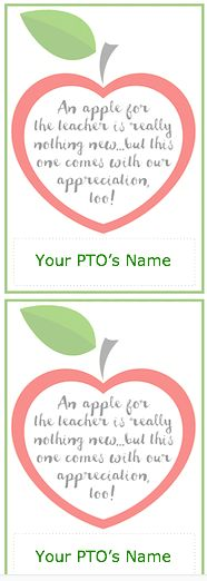 Get our free apple-style gift tags for back-to-school teacher gifts!