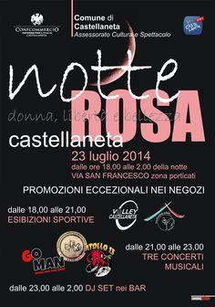 MERCOLEDI 23 LUGLIO: LA NOTTE ROSA DI CASTELLANETA
