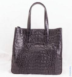 Сумка из натуральной крокодиловой кожи черная, с подкладкой из натуральной  замши Сумки, Попробуйте Еще 15efdb19658