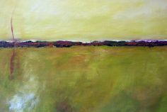 Abstract Landscape Modern Abstract Art by paintallnightstudios, $175.00