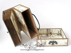 NOW SHIPPING Do want to try your hand at something different? This beautiful suitcase and album was designed by Alexandra Morein. The tutorial will lead you thr