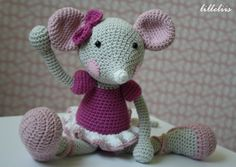 Ballerina-mouse – pink and girlish!  Available as a pattern.