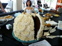 The Baking Fairy: breakfast at Tiffany's shower + vegan Barbie cake