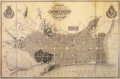 Ensanche de Barcelona. Plan de los alrededores de la ciudad de Barcelona y del proyecto para su mejora y ampliación, 1859.