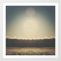 Frozen Reflection Art Print by Hallwood - $18.00