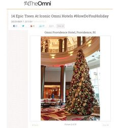 We are honored to make the #OmniHotel list of 14 #Epic #Trees at #Iconic Omni Hotels!  #instaxmastree #christmastree #20fttree #christmasdecorations #holidaydecor #hotellobby #hotel #hoteldesign #tistheseason #honor #omniprovidence #omniprovidencetree #providence #rhodeisland #gobigorgohome #luxury #luxurydesign Designer: #christinemccaffery @c2mdesigns Specialty #uplighting: @ormondeproductions