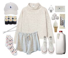 """""""could you fall down a little harder?"""" by annefs1 ❤ liked on Polyvore featuring Monki, Clu, Converse, HOT SOX, Fortessa, white, Sweater, shorts, EXO and whitenoise"""