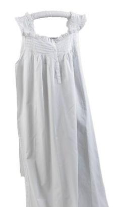 64998fec01 Eyelet Trim Cotton White Nightgowns