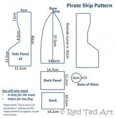 Pirate ship dimensions