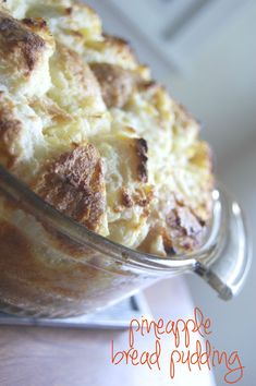 lovely little whimsy: vintage recipes: pineapple bread pudding