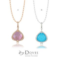 Which is your favorite #pendant?   Viola (A) or St. Barths Blue (B)?