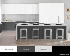 Design your own colour schemes for Kitchens and Wardrobes. Choose your colours… Design Your Own Bathroom, Kitchen Room Design, Kitchen Ideas, Kitchen Island Bench, Splashback Tiles, U Shaped Kitchen, Colour Schemes, Wardrobes, Kitchens