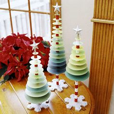 Paper Trees ,,,,,, I think I'd use something more decorative than plain circles though!