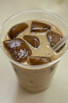 coffee ice cubes + coffee