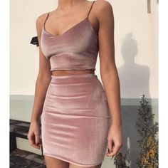 Cheap velvet dress, Buy Quality dress women directly from China brand dress Suppliers: 2017 New Brand mini velvet Dresses Women 2 pieces Pink bodycon Dess Casual short vestidos High quality matieral drop shipping Mode Outfits, Fashion Outfits, Womens Fashion, 90s Fashion, Fashion Clothes, Night Outfits, Style Fashion, Fashion Beauty, Trendy Outfits