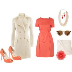 jil sanders coral, created by bellaviephotography.polyvore.com