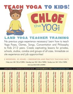 Learn how to teach yoga to kids, teacher training available in Harlem at Land Yoga