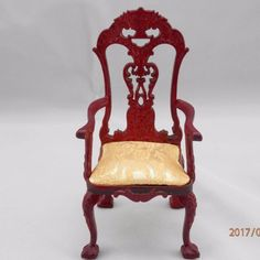 Doll Furniture Chinese  Mahogany Engrave Designs Chair set ~1:6 Scale BJD