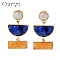 Comiya Statement Jewelry Brincos Para As Mulheres Earrings For Women Plastic Mosaic Personality Earring Brinco Wholesale #Affiliate