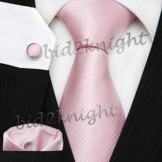 Baby Pink Wedding Silk Tie Set